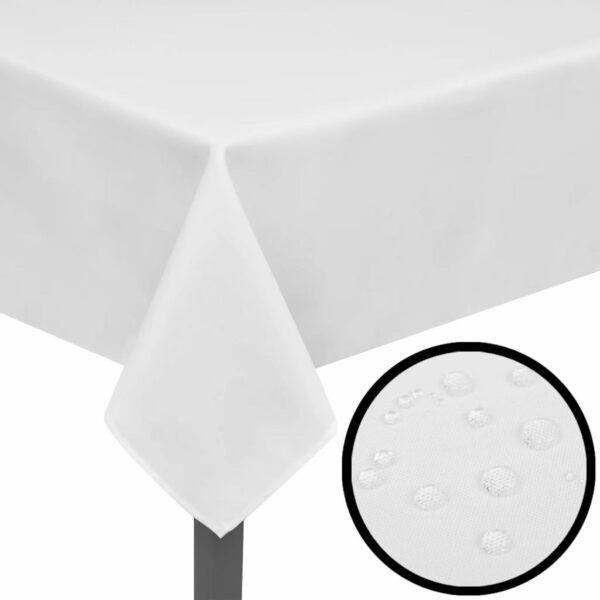 5 Tischdecken Weiß 190 x 130 cm