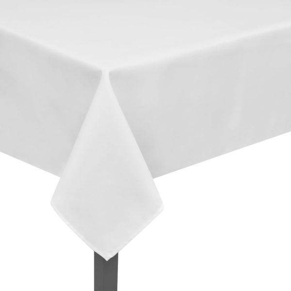 5 Tischdecken Weiß 220 x 130 cm
