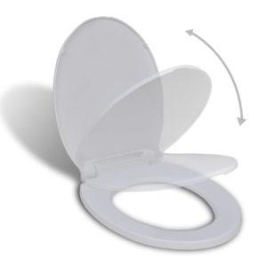 Toilettensitz mit Absenkautomatik Oval Weiß