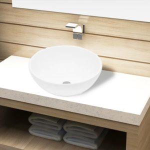 Keramik Waschbecken rund weiß