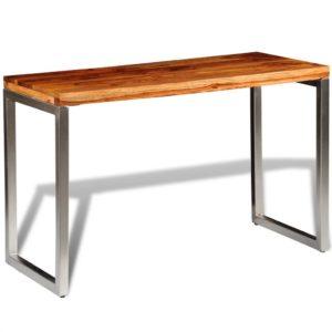 Esstisch Schreibtisch Massivholz mit Stahlbeinen