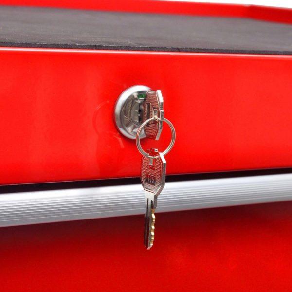 Roter Werkstattwagen 5 Schubladen