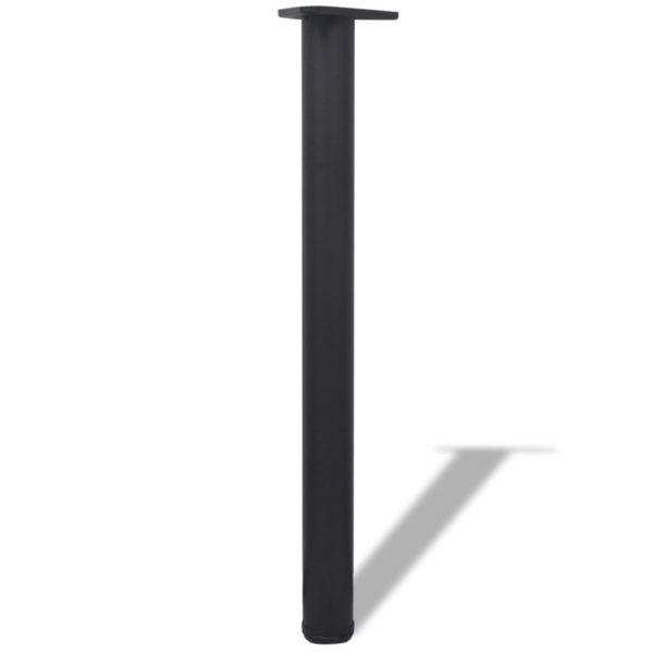 4x höhenverstellbares Tischbein Tischbeine Stützfuß Schwarz 710 mm