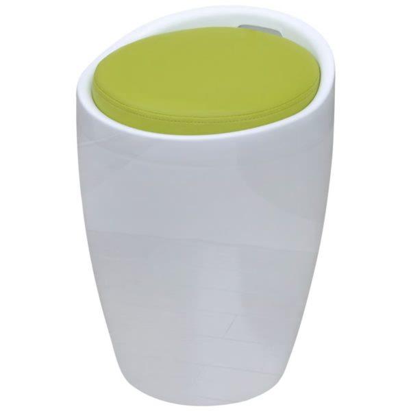 Hocker Weiß und Grün Kunstleder