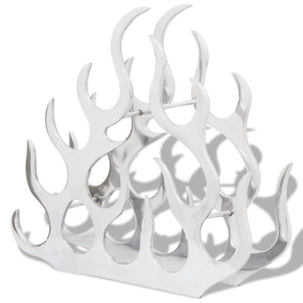 Flaschenregal für 11 Flaschen Silbern Aluminium
