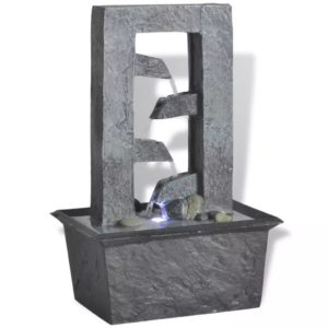 Zimmerbrunnen mit LED-Licht Polyresin
