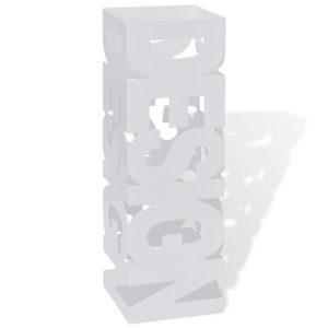 Schirmhalter Schirmständer Gehstöcke Stahl weiß quadratisch 48,5 cm