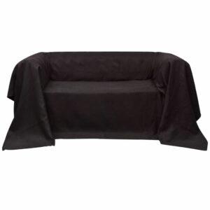Micro-Suede Sofaüberwurf Tagesdecke Braun 210 x 280 cm
