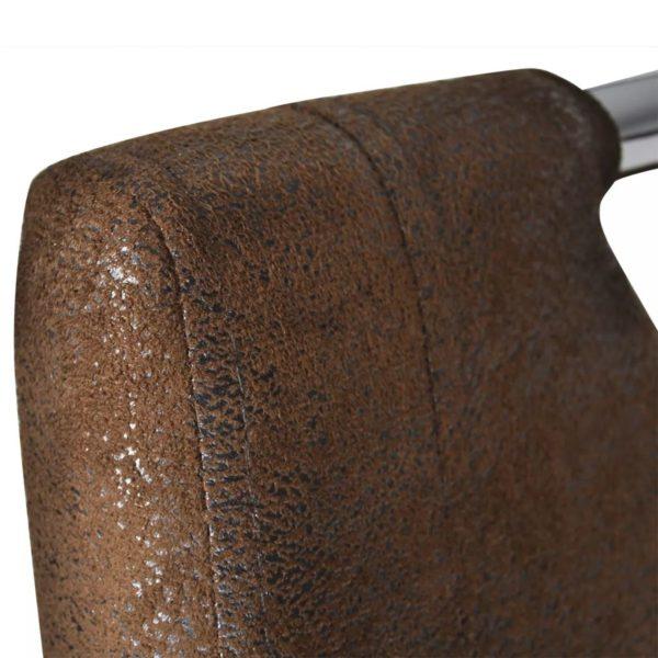 Esszimmerstühle 6 Stk. Braun Kunstleder