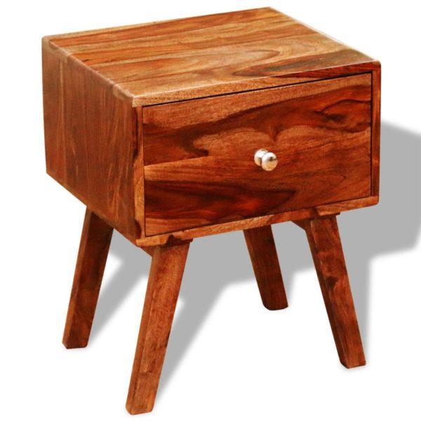 Nachttisch 2 Stk. mit 1 Schublade 55 cm Massivholz