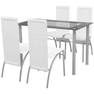 Fünfteilige Essgruppe Weiß