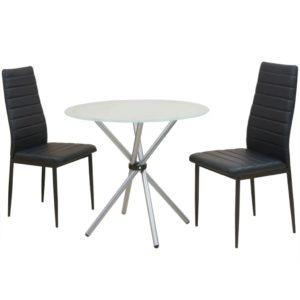 3-tlg. Essgruppe Esstisch mit Stühlen