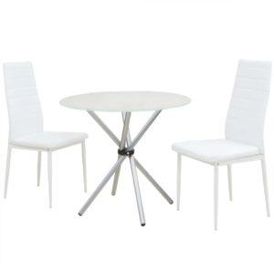 3-tlg. Essgarnitur Esstisch mit Stühlen