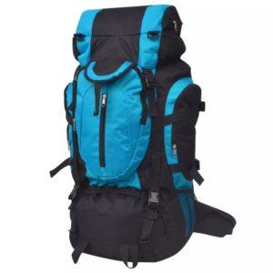Wanderrucksack XXL 75 L schwarz und blau