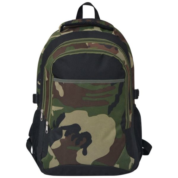 Schulrucksack 40 L Schwarz und Tarnfarbe