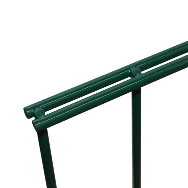 Doppelstabmattenzaun Gartenzaun 2008×1830 mm Grün