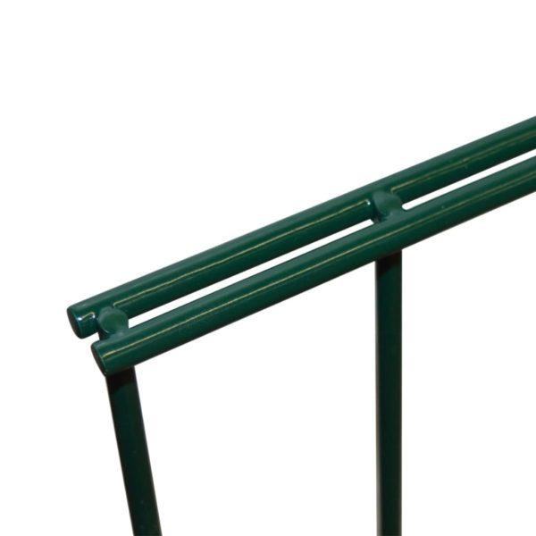 Doppelstabmattenzaun Gartenzaun 2008×2030 mm Grün