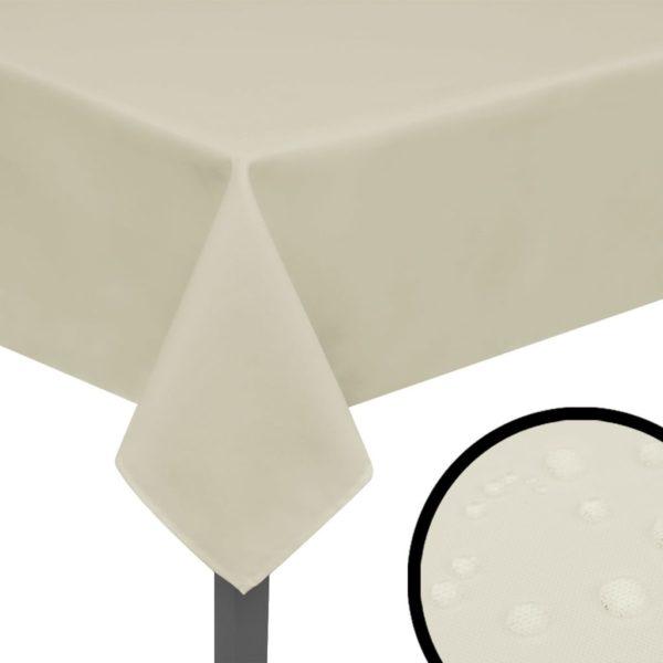 Tischdecken 5 Stk Creme 250×130 cm