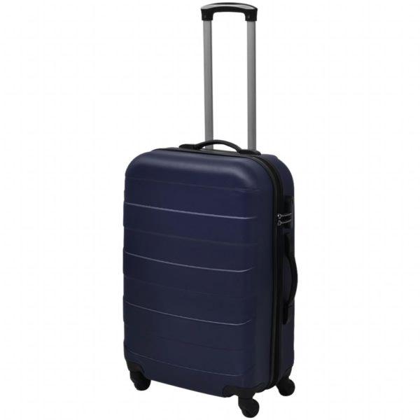 3-tlg. Hartschalen-Reisekoffer-Set Trolley Blau