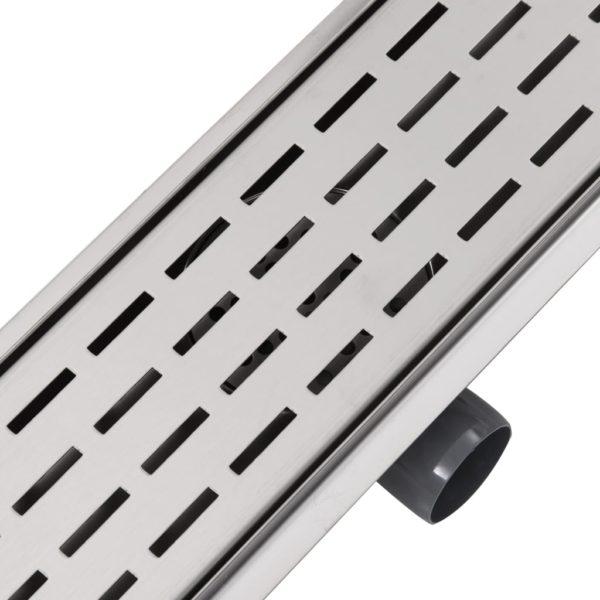 Gerade Duschrinne Linien 530×140 mm Edelstahl
