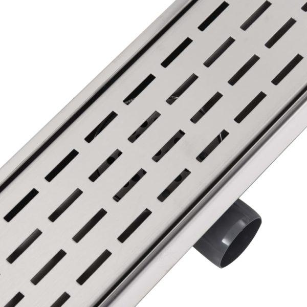 Gerade Duschrinne Linien 630×140 mm Edelstahl