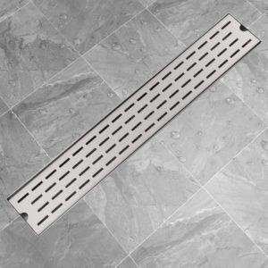 Gerade Duschrinne Linien 730×140 mm Edelstahl