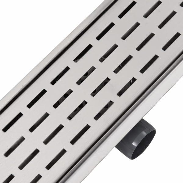 Gerade Duschrinne Linien 1030×140 mm Edelstahl