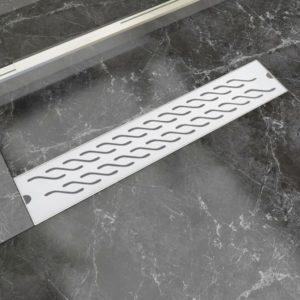 Gerade Duschrinne Wellen 630×140 mm Edelstahl