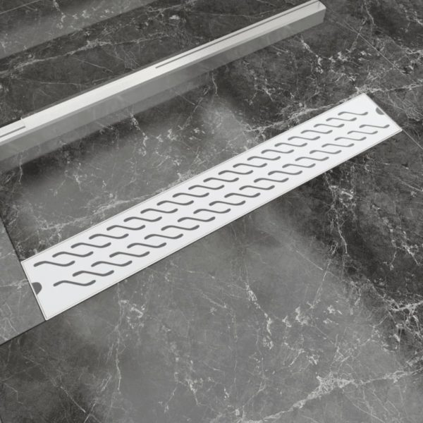 Gerade Duschrinne Wellen 730×140 mm Edelstahl
