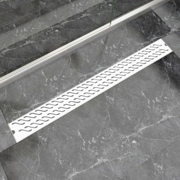 Gerade Duschrinne Wellen 1030×140 mm Edelstahl