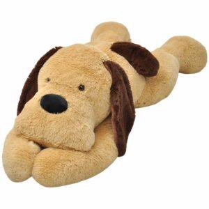 Hund Stofftier Plüsch Braun 160 cm
