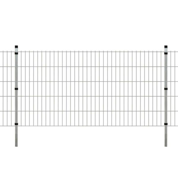 Doppelstabmattenzaun Gartenzaun Pfosten 2008x1030mm 6m Verzinkt