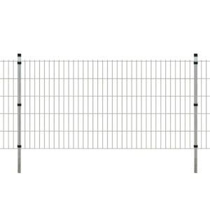 Garten Doppelstabmattenzaun & Pfosten 2008x1030mm 10m Verzinkt