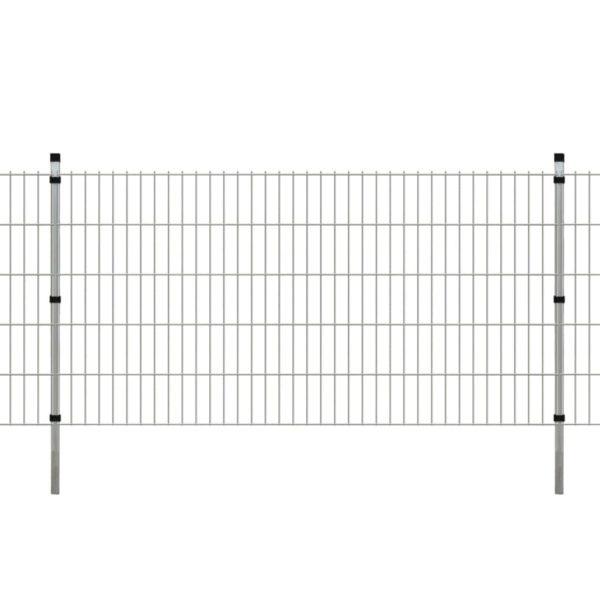 Garten Doppelstabmattenzaun & Pfosten 2008x1030mm 14m Verzinkt