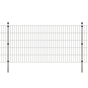 Garten Doppelstabmattenzaun & Pfosten 2008x1030mm 18 m Verzinkt
