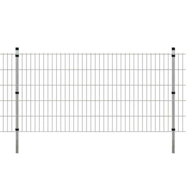 Garten Doppelstabmattenzaun & Pfosten 2008x1030mm 34 m Verzinkt