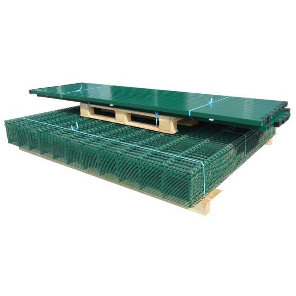 Doppelstabmattenzaun Gartenzaun & Pfosten 2008×1230 mm 16 m Grün