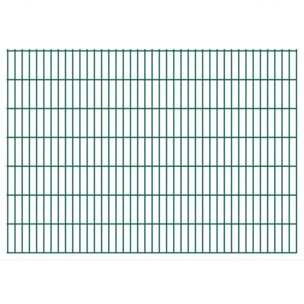 Doppelstabmattenzaun Gartenzaun & Pfosten 2008×1430 mm 14 m Grün