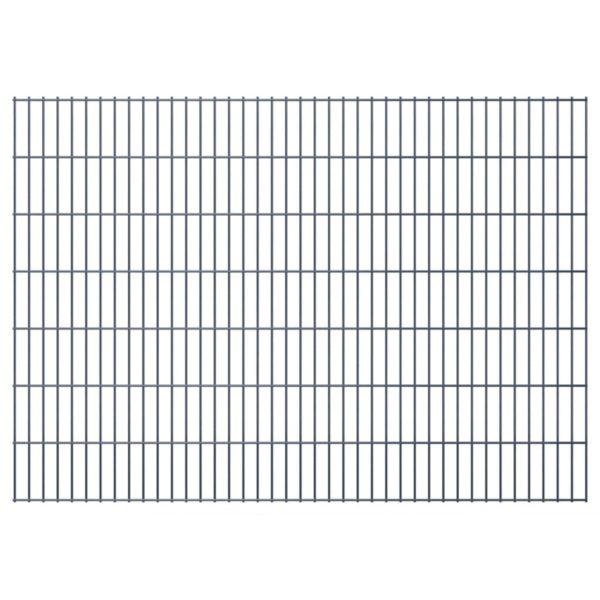 Doppelstabmattenzaun Gartenzaun & Pfosten 2008×1430 mm 10m Grau