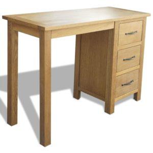 Schreibtisch mit 3 Schubladen 106×40×75 cm Massivholz Eiche