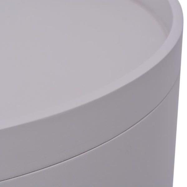 Beistelltisch mit Serviertablett rund 39,5×44,5 cm grau