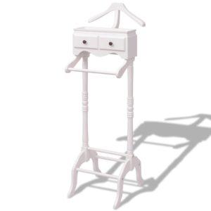 Kleiderständer mit Schubladen Weiß Holz