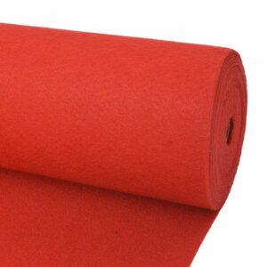 Messeteppich Glatt 1×24 m Rot
