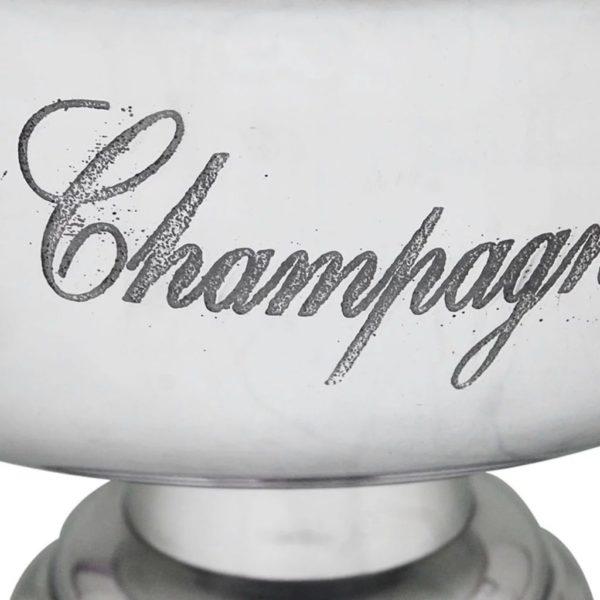 Champagner-Kühler Pokal Aluminium Silber