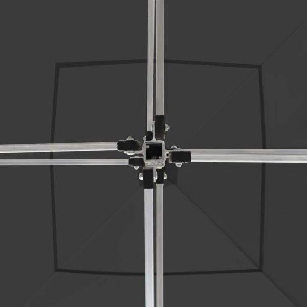 Profi-Partyzelt Faltbar mit Wänden Aluminium 3×3m Anthrazit
