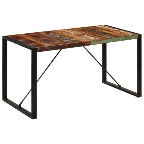 Esstisch 140 x 70 x 75 cm Recyceltes Massivholz