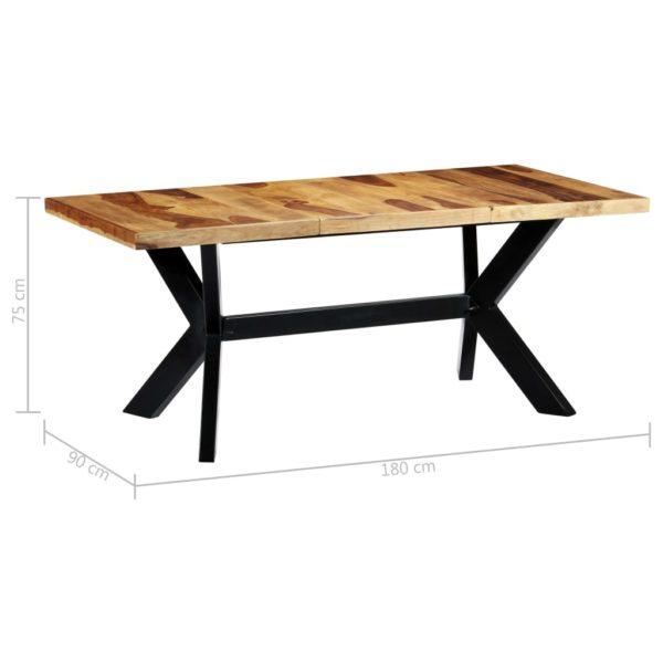 Esstisch 180 x 90 x 75 cm Massivholz