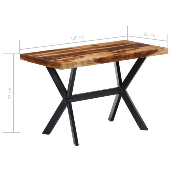 Esstisch 120 x 60 x 75 cm Massivholz