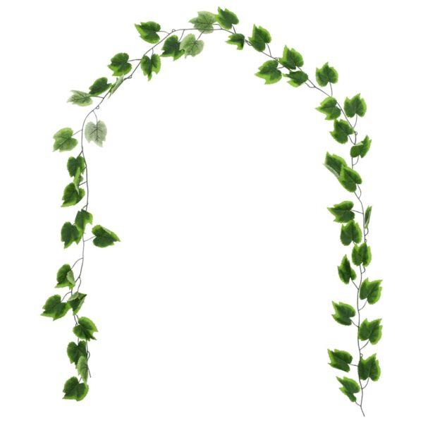 Künstliche Blätter Traube 5 Stk. Grün 300 cm
