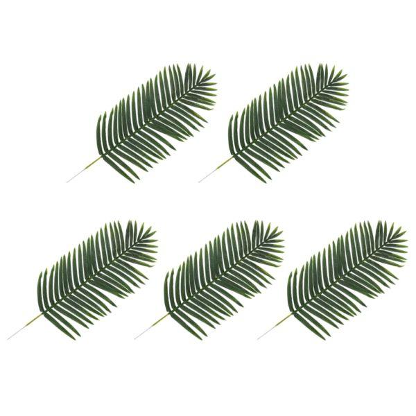 Künstliche Blätter Palme 5 Stk. Grün 125 cm